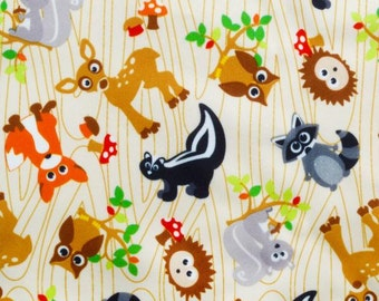 PUL - Forest Friends - Diaper cut - 21 x 24