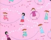 LAST PIECE Half Yard Hello Petal Jump Rope in Petal Pink, Aneela Hoey, Moda Fabrics, 100% Cotton Fabric, 18560 14