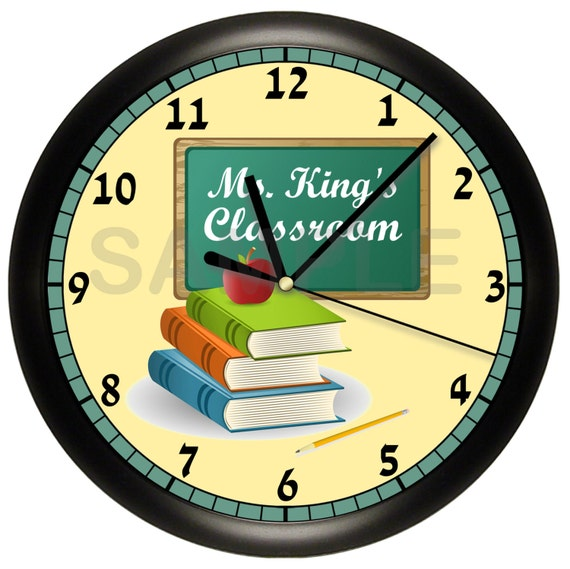 Personalized Teacher Wall Clock Classroom Gift Decor by ...