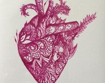 Print - Henna Heart - 8x10 Large Print