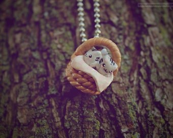 Basket of Kittens • Necklace/Keychain/Phone Charm/Earrings