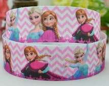 "50 yards 7/8"" Elsa Ribbon, Frozen Ribbon, Grosgrain 7/8 inch, Frozen Supplies, Frozen Decorations, many more frozen ribbons in our shop"