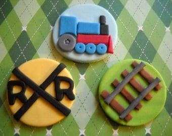 Train Edible Cupcake Topper Set of 12