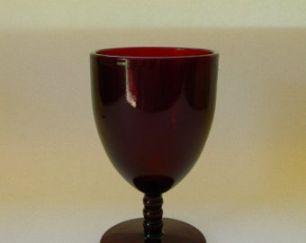 Royal Ruby Ball Stem Goblet