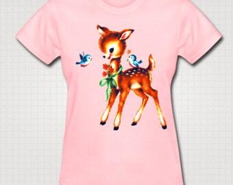Vintage Kitsch Deer T-Shirt