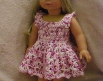 Crochet pattern for dress and headband for 18 inch American Girl Gotz doll