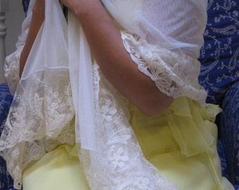Lace shawl, bridal lace, bridal wrap, wrap, shawl, bridal shawl