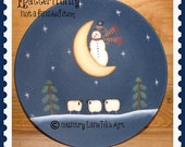 EPATTERN, Do you see what I see, painting pattern, snowman, sheep, decorative plate, digital download