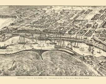 Vintage Map - San Pedro California 1905