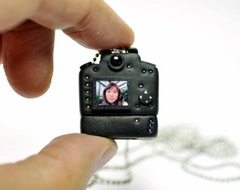 Personalized necklace USB Canon 5D Mk III Camera miniature / Personalized gift / Personalized necklace