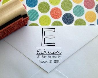 Name Initial Calligraphy Return Address Stamp