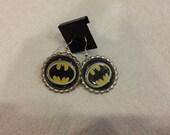 Batman Bottle Cap Earrings