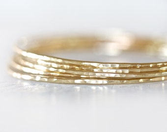 Gold Bangles / Stacking Bangles / Nu Gold Bracelets / Chic Fashion Fresh Finds Hand Hammered / Unique / Fashion Trend / Gold Trending