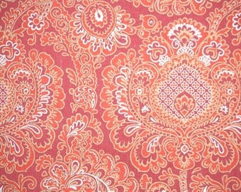 Vintage Wallpaper by the Yard 70s Retro Wallpaper – 1970s Red and Silver Paisley