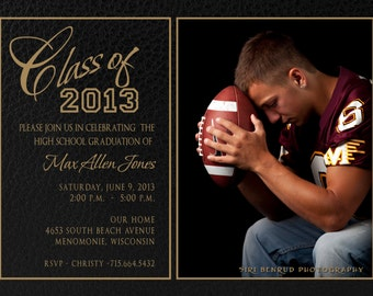 Graduation Invitation, Photoshop Template, Senior Boy Invitation, templates, graduation cards, graduation card, announcements,  41 ID 041
