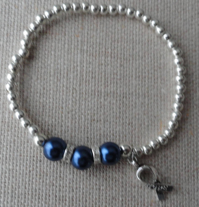 034 colon cancer awareness bracelet