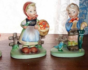 Five (5)  Hummel-like Figurines Made in Japan Vintage     New Low Price