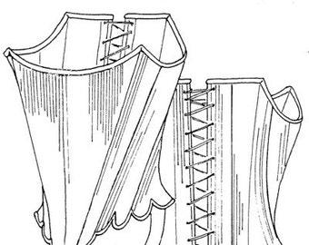 JPR08 - JP Ryan #08, 18th Century Strapless Stays Sewing Pattern