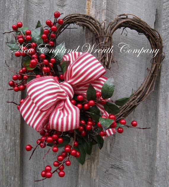 Valentine Wreath Heart Wreath Designer Wreath Berries