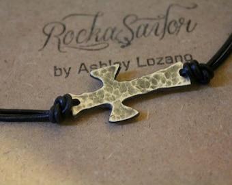 Sterling cross, necklace or bracelet