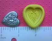 HEART mold SILICONE mold heat safe food safe mold for fondant cake decorationsl cookie cupcake toppers polymer clay plaster