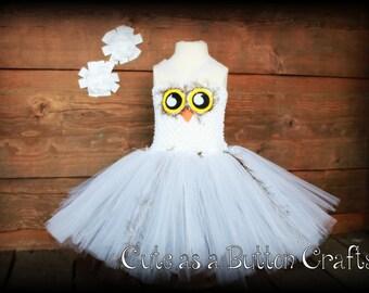 Adorable Snow Owl Costume, halloween owl costume 6 months 9 months 12 months 18 months 24 months 2T 3T Harry potter Hedwig inspired,
