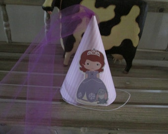 Sofia the First Inspired Party Hats Set of 12