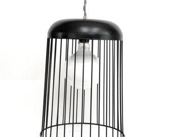 SALE ! Black Wire Hanging Pendant Light