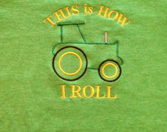 This is how I roll john Deere tractor tshirt size 6/7