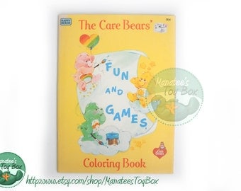 CLEARANCE Vintage Care Bear Coloring Book Fun and Games 1980s Unused