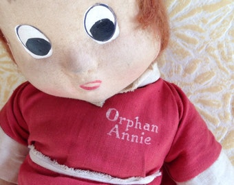 1920's Orphan Annie Doll in Her Original Outfit