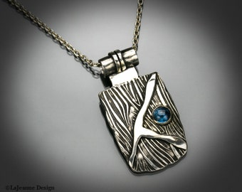 Cerulean Days - Sterling Silver & Blue Spinel Necklace