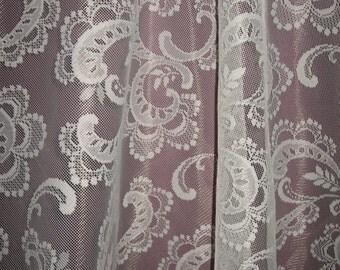 """Wedding Lace fabric 54"""" wide, 17 yards... Swirl pattern"""