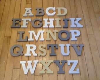 Wooden Alphabet Letters - Hand Painted Wooden Letters Set - 26 letters - 12cm high - RS font - various colours & fonts