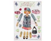Paper Doll Download, Doris Articluated Doll...Doris Loves Shopping. Digital Download