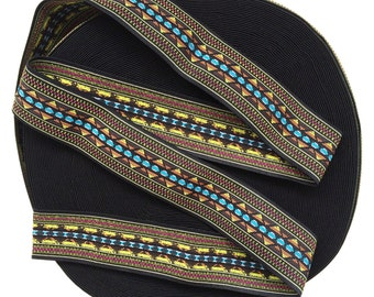 "2"" Multi-Coloured Aztec Print A Stretch Elastic Band"