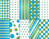 blue and Green Scrapbook Paper, Printable blue and Green paper, printable blue and Green scrapbook paper, blue and Green paper