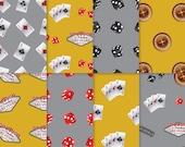 Casino Theme Paper - Gold + Silver 1 - casino paper, printable casino paper, digital casino paper, casino scrapbook paper
