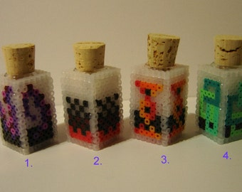 8bit ink bottle video game Lovecraft inspired style geekery desk ornament 8 bit decorative bottle