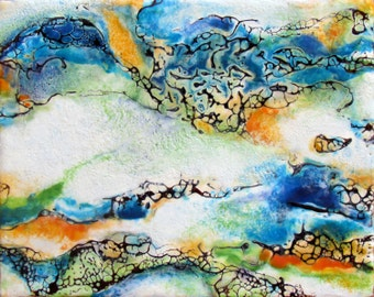 Original Encaustic Painting - Abstract Encaustic - Abstract Painting - Encaustic Art - Beeswax Art - KLynnsArt