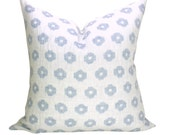 Timur Weave pillow cover in Sky - white background