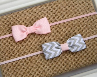 Newborn Bow Headband, Newborn Headband, Newborn Bow, Pink Bow Headband