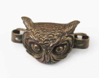Unique Brass Owl Vintage Tie or Scarf Clip