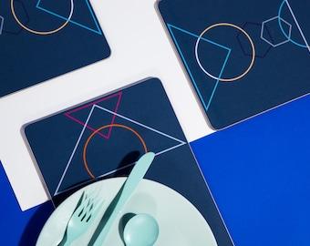 SALE 'Outlines' Rectangle Table mat set