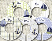 Baby Closet Dividers - Nautical Baby Blue - Inspired by Zachary Baby Crib Bedding by Nautica Kids