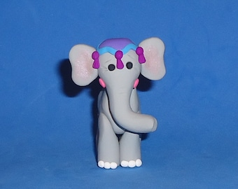 Polymer Clay Standing Circus Elephant