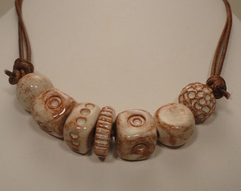 Earthenware Bead Necklace