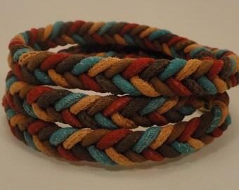 Stitched Suede Braided Bracelet