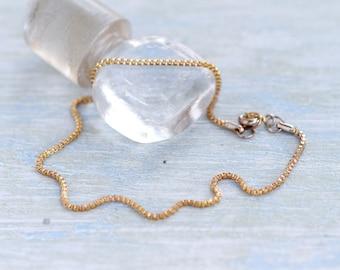 Ankle Bracelet - Oxidized Golden Chain