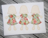 Paper Dolls Girls Applique Design Machine Embroidery INSTANT DOWNLOAD